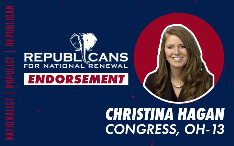 Republicans for National Renewal Endorses Christina Hagan for Congress